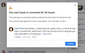 censurado en facebook