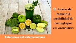 15 formas de reducir la posibilidad de contagio por el Coronavirus